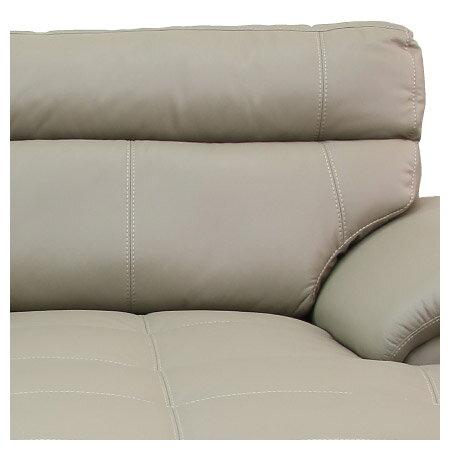 ◎(OUTLET)半皮左躺椅L型沙發 CAPUCCINO BE 福利品 NITORI宜得利家居 5