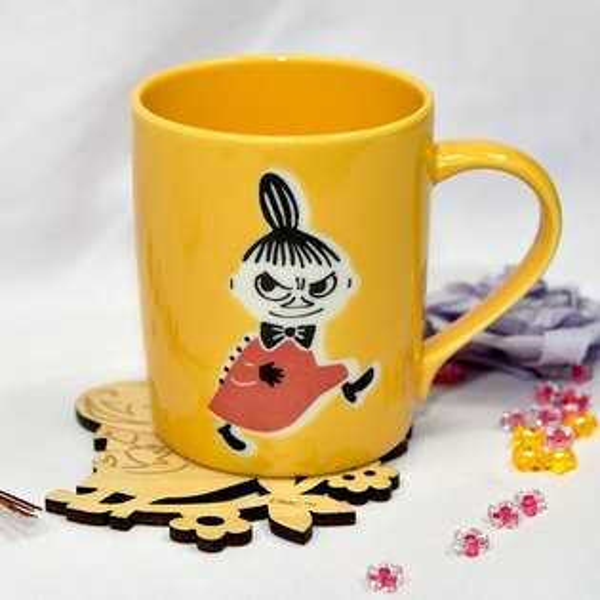 MOOMIN嚕嚕米小不點亞美陶瓷馬克杯木質杯墊正版日本製