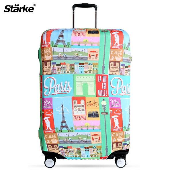 <br/><br/>  E&J【010001-02】Starke 高彈性行李箱套 - 浪漫巴黎;適用26-29吋/防塵套/防刮/行李箱保護套<br/><br/>
