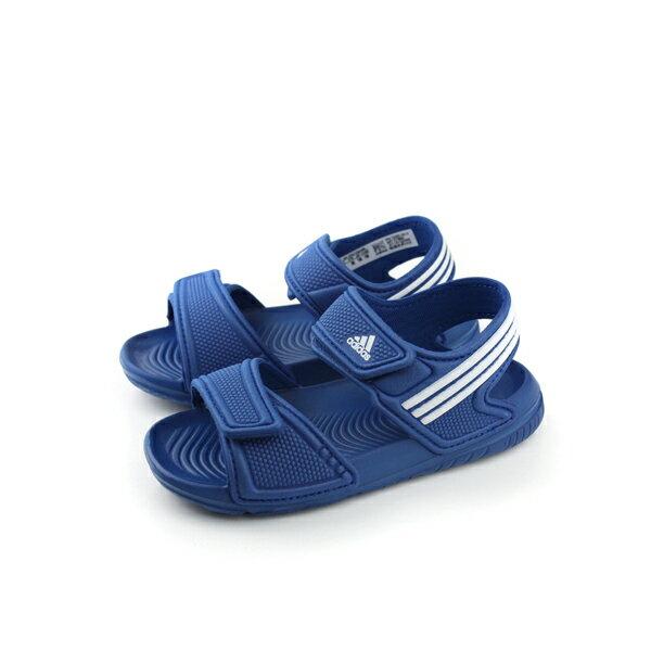 adidas 涼鞋 童鞋 深藍色 小童 no323