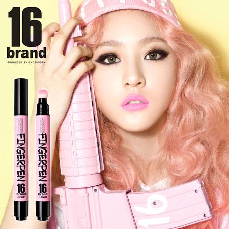 韓國 16 brand FINGERPEN 一筆搞定 FM唇彩x頰彩系列 4g 氣墊筆 氣墊手指筆 唇彩 腮紅 【B061977】