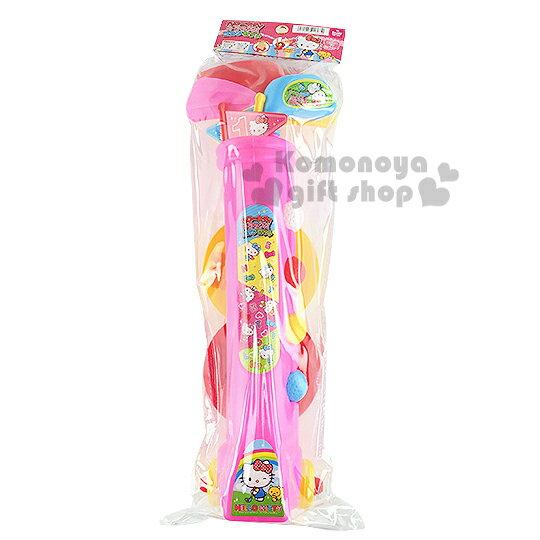 〔小禮堂嬰幼館〕Hello Kitty 高爾夫球玩具組《粉.4球桿4顆球.2旗桿》健康運動性質玩具