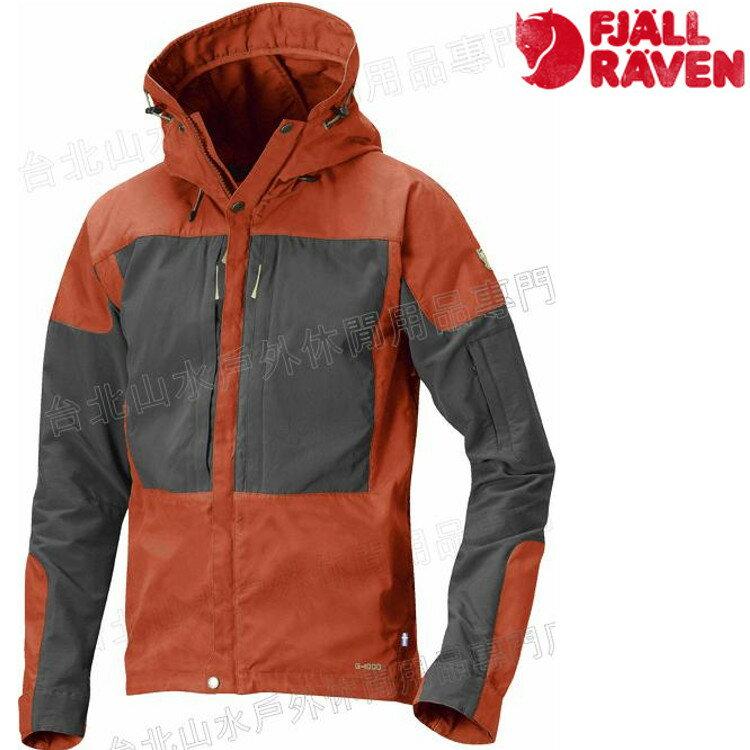 Fjallraven 瑞典北極狐 Keb 薄軟殼衣/軍裝夾克/獵裝風衣 G-1000 男款 81762A-215 秋葉橘