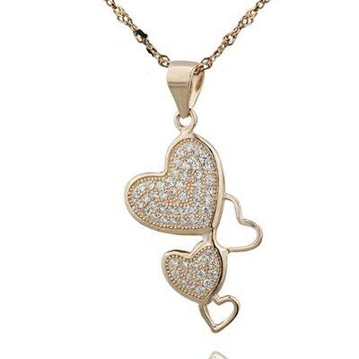 玫瑰金純銀項鍊 鑲鑽吊墜~極光炫彩典雅 母親節情人節生日 女飾品73dk184~ ~~米蘭