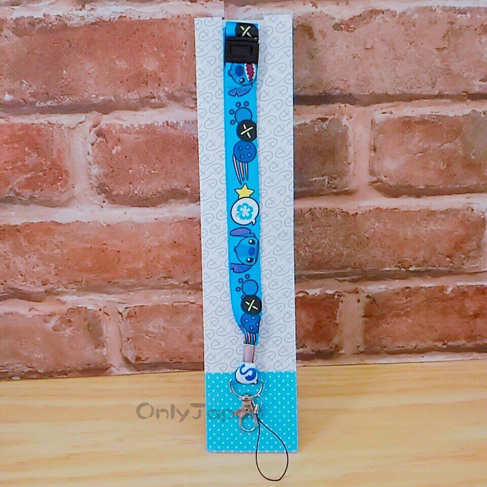 【真愛日本】18011400013 可調整扣吊勾頸掛繩-史迪奇 迪士尼 星際寶貝 證件帶 手機頸繩 相機頸繩