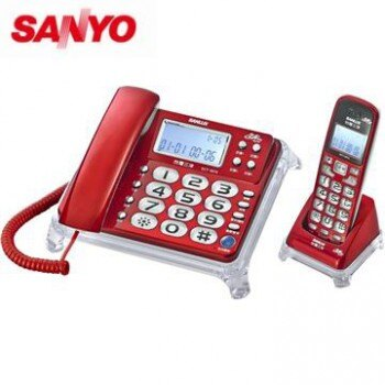 【DCT-8915】三洋 2.4 GHz 數位無線親子機 SANYO DCT-8915  (來去電報號)  紅