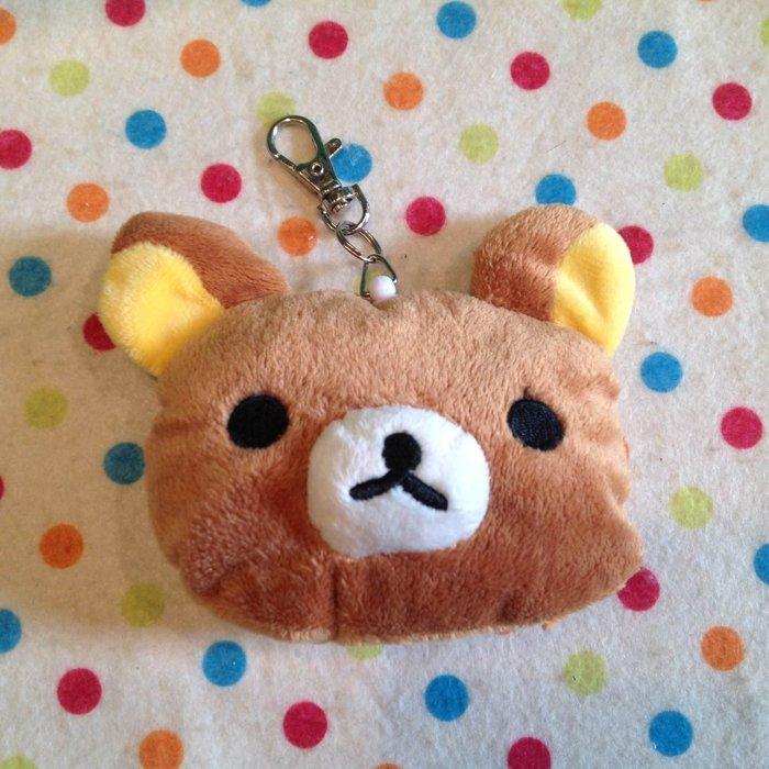 =優生活=【現貨出清】日本拉拉熊 懶懶熊頭型自動伸縮卡套 悠遊卡套 吊飾 娃娃