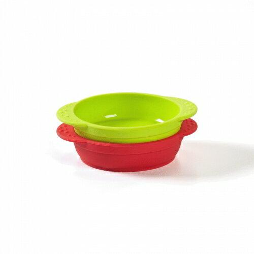 ★衛立兒生活館★Kinderville 寶寶矽膠小碗(紅色+綠色/藍色+橙色)