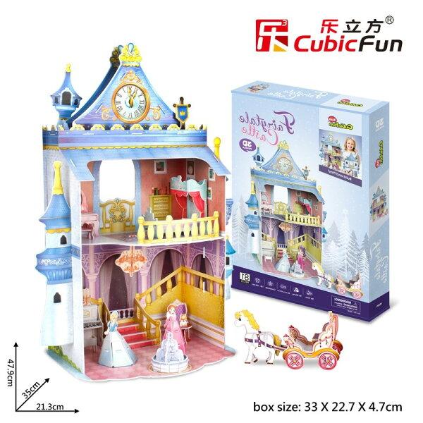 3DPuzzle立體拼圖-女孩屋系列【公主城堡】P809h初學者級81片