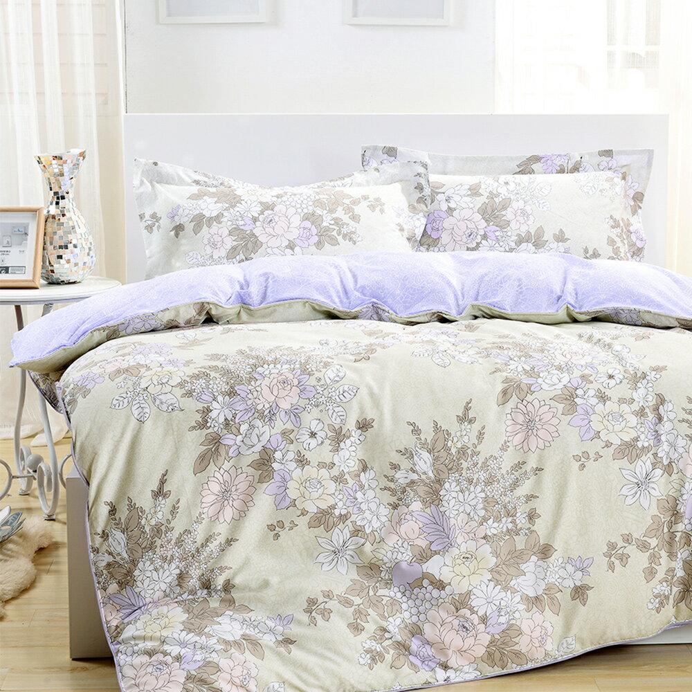 【鴻宇-HONGYEW】純棉系列/ikea風格/浪漫主義-雙人四件式薄被套床包組ML135603