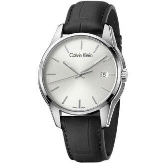CK 品格系列(K7K411C6)簡約日曆時尚腕錶/白面44.1mm