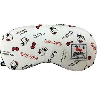 【真愛日本】17022600017日本製旅用眼罩-多結白  三麗鷗 Hello Kitty 凱蒂貓 居家 限量