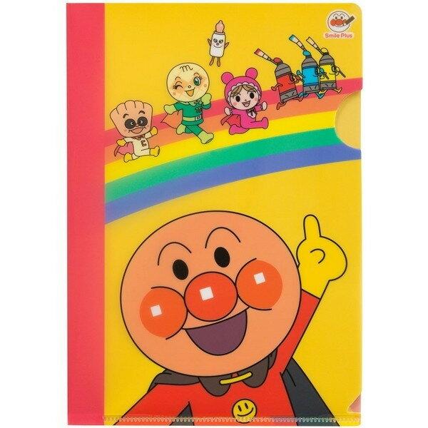 【真愛日本】17062000012 日本製A5資料夾-麵包超人 電視卡通 小病毒 細菌人 吐司超人 L夾 檔案夾