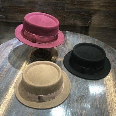 【米蘭精品】羊毛呢帽爵士帽-秋冬時尚百搭平頂女帽子6色73tk33
