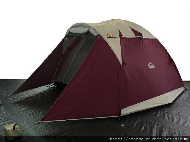 【【蘋果戶外】】速可搭 挪威森林 紫羅蘭 YK-001 Scooda 贈鋁箔墊防水地布 5~6人270x270銀膠帳篷 露營帳篷 六人帳篷 家庭帳篷