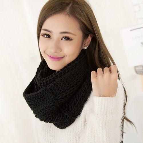 PS Mall 韓國素色學院風圍巾 超寬加厚保暖圍脖 ~G1832~