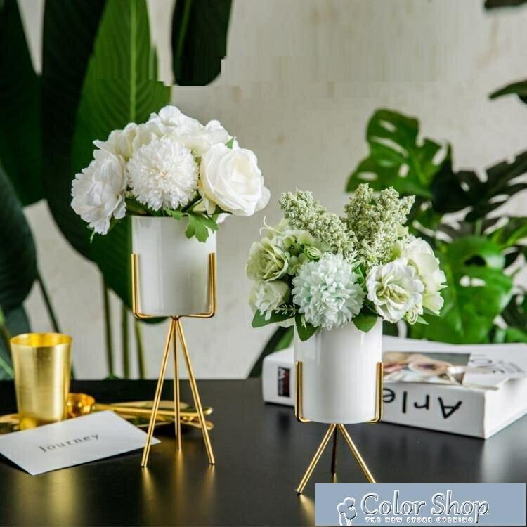 假花 ins北歐客廳茶幾假花藝餐桌仿真干花束擺件擺設裝飾家居創意塑料