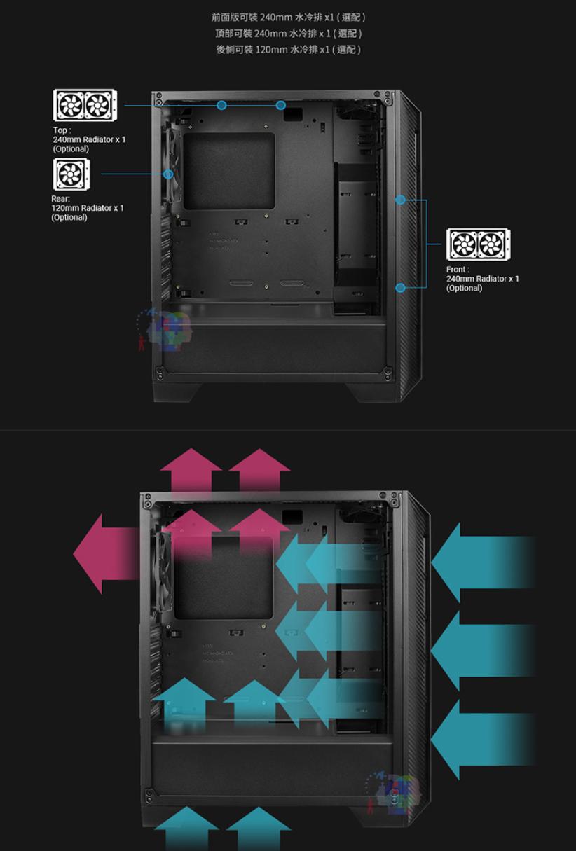 【AeroCool】Cylon 賽隆 Pro (4小) 全透側 A-RGB電腦機箱 KR-AC-Cylon-Pro