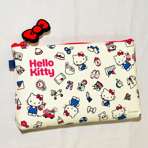 HelloKitty凱蒂貓造型矽膠多功能包筆袋化妝包日本正版p+gdesignNUU