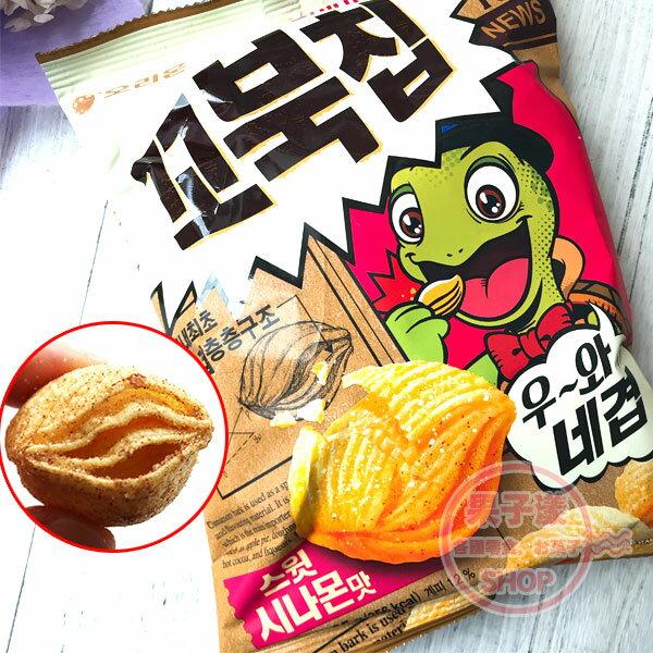 韓國ORION好麗友烏龜餅乾(肉桂味)單包80g玉米餅[KR483]
