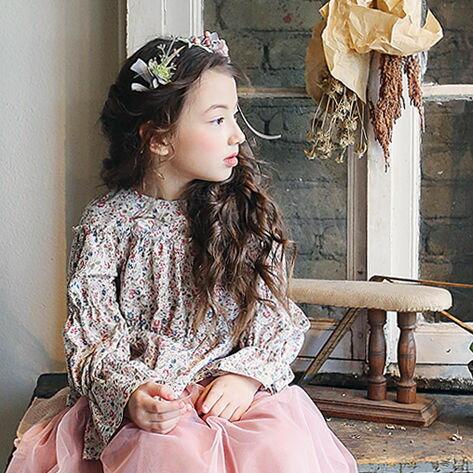 17春~甜美荷葉層次寬袖緹花上衣♥(5~13)