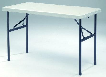 【MK2448】122X60公分超實用環保折疊收納桌/補習班/辦公室工作桌/教學用桌/佛堂用桌/展覽桌/戶外活動桌★★♪♪外銷優質收納桌♪♪