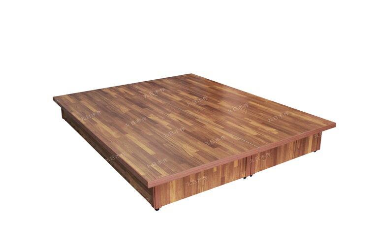 【九日木作】堅固耐用5尺雙人台製超厚六分木心板床底/床架