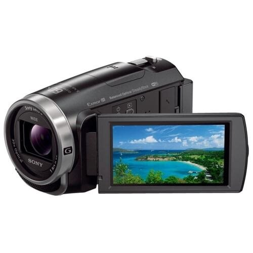 "Sony Handycam HDR-CX675 Digital Camcorder - 3"" - Touchscreen LCD - Exmor R CMOS - Full HD - Black - 16:9 - 2.3 Megapixel Video - XAVC S, AVCHD, H.264/MPEG-4 AVC, MP4 - 30x Optical Zoom - 350x Digital Zoom - Optical (IS) - 32 GB Flash Memory - HDMI - USB -"