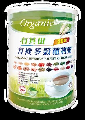有其田有機多穀植物奶 (900公克/罐:適合有機早餐、下午茶、低熱量飲食)