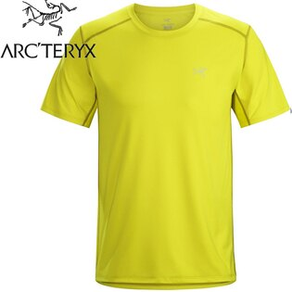 Arcteryx始祖鳥登山排汗衣排汗T恤Ether男款短袖排汗衣12529地衣黃