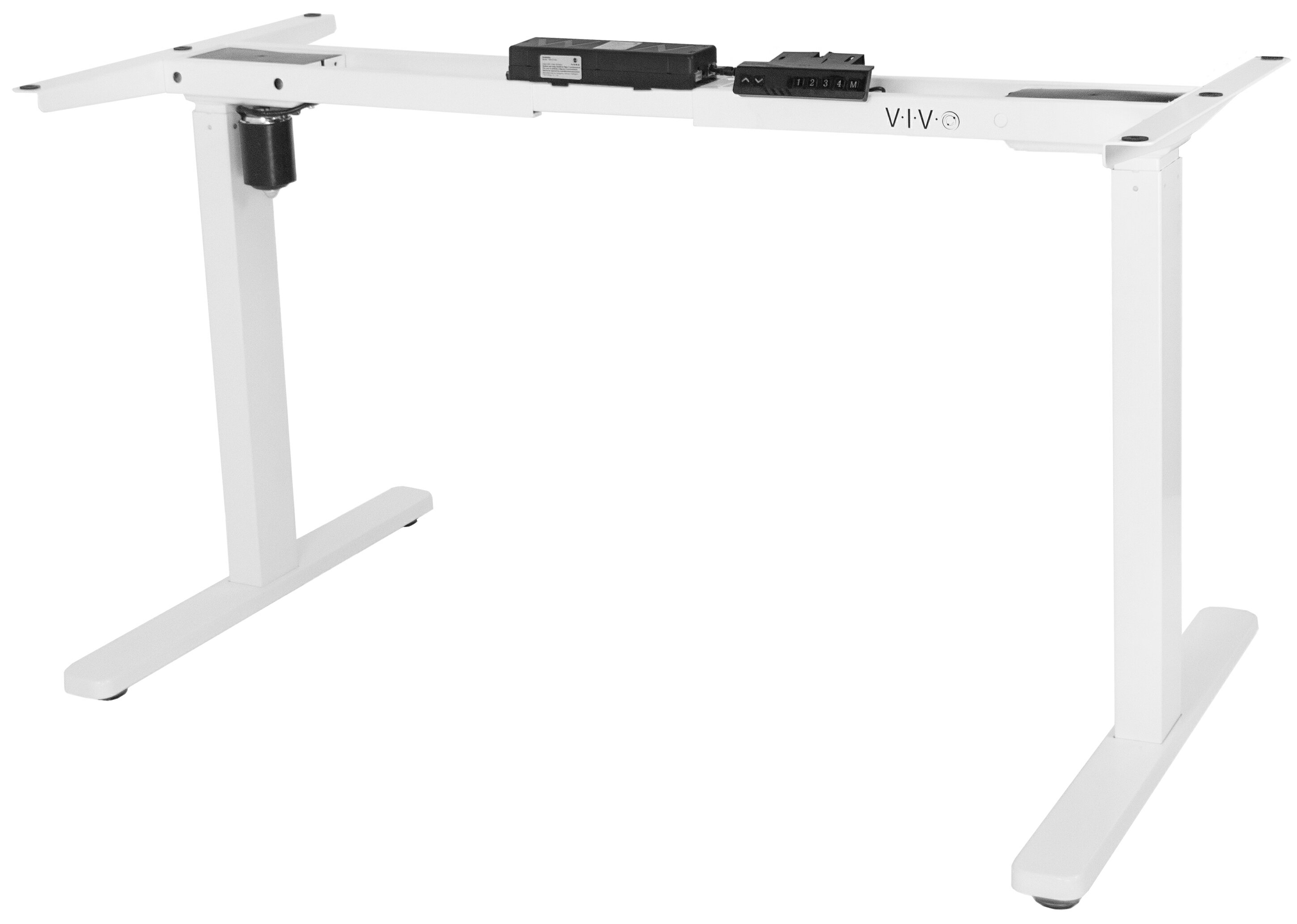 Vivo white electric stand up single motor height adjustable desk frame workstation base standing desk legs