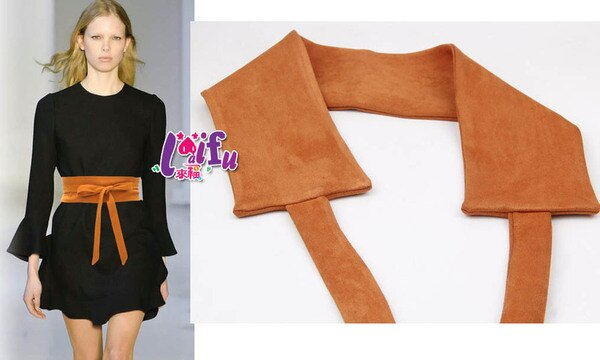 來福:來福腰封,H749腰封設計絨布蝴蝶結寬腰帶腰封腰帶寬腰封正品,售價350元