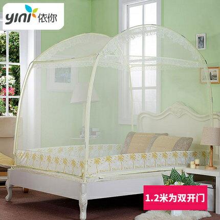 蚊帳 蒙古包家用雙人簡易1.5m帳篷蚊帳易安裝 1.8米床帶支架單開門宿舍T 1