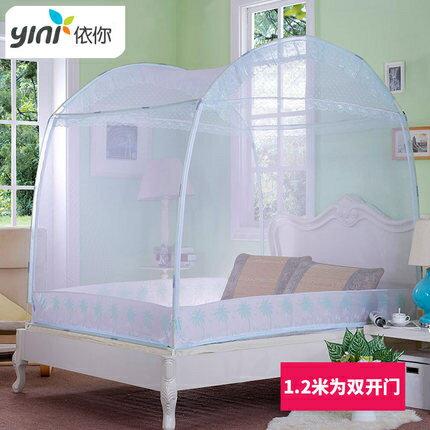 蚊帳 蒙古包家用雙人簡易1.5m帳篷蚊帳易安裝 1.8米床帶支架單開門宿舍T 0