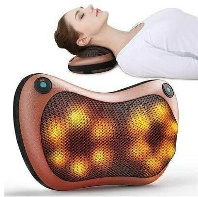 多功能按摩枕 肩頸按摩 腳底按摩 腰椎按摩 按摩枕頭 按摩枕 充電款 車 / 家多用  現貨 0