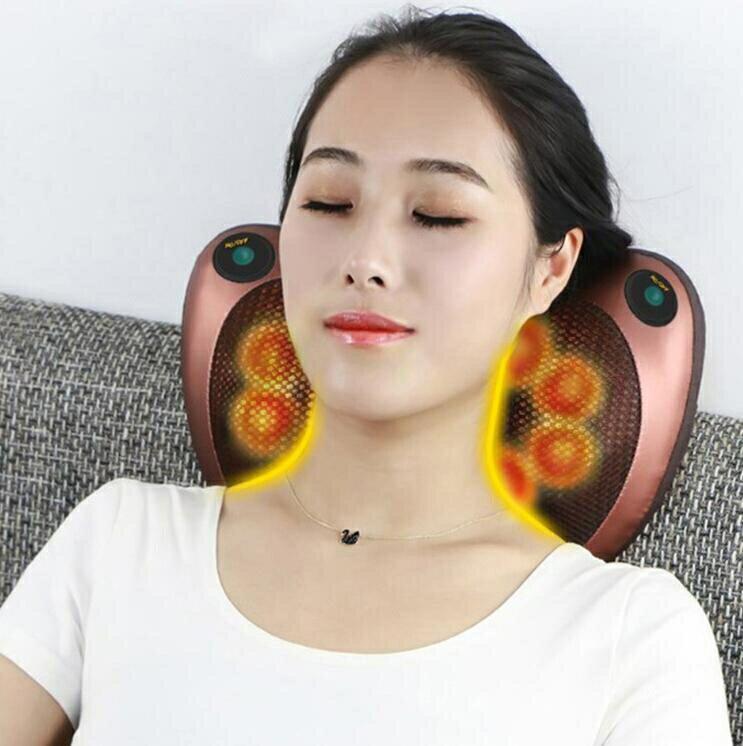多功能按摩枕 肩頸按摩 腳底按摩 腰椎按摩 按摩枕頭 按摩枕 充電款 車 / 家多用  現貨 1