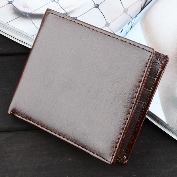Mens Synthetic Leather Wallet Credit/ID Cards Holder Purse 4