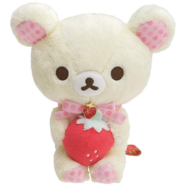 X射線【C705004】懶熊Rilakkuma15週年絨毛公仔娃娃-牛奶熊,絨毛填充玩偶玩具公仔靠墊抱枕靠枕
