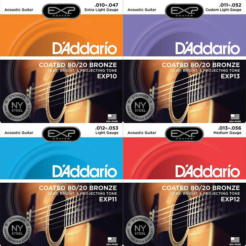 亞都音樂YouDoMusic 現貨 單包免運 D'Addario EXP 10 13 11 10-47/ 11-52/ 12-53 包膜 民謠 木吉他 弦
