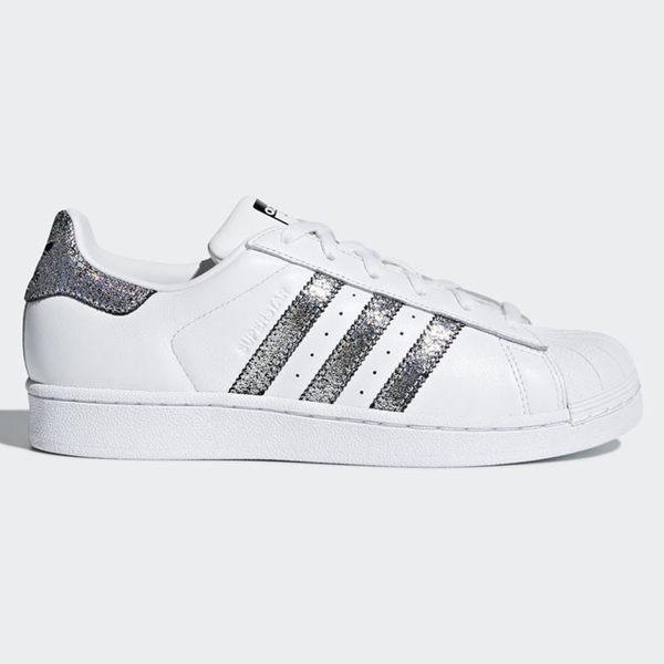 《限時特價↘7折免運》AdidasSuperstar女鞋休閒經典百搭貝殼頭白銀【運動世界】CG5455