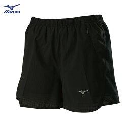 J2TB825899(黑)股下7cm 微彈性透氣網布 內裏褲設計 女路跑褲 【美津濃MIZUNO】