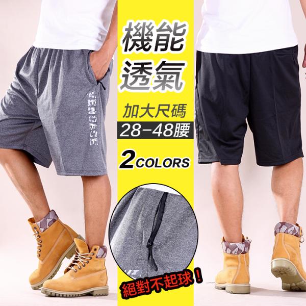 【CS衣舖】加大尺碼28-48腰極度快乾舒適吸汗伸縮腰圍運動短褲8027