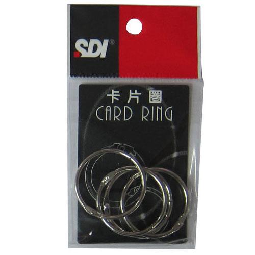 """【SDI 手牌 卡片圈】SDI 0753D(5卡片圈/卡片環( 1 1/2""""×4入)"""