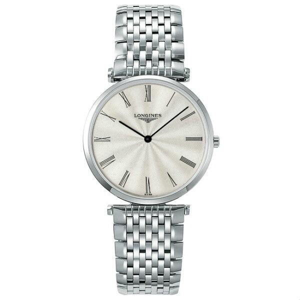 LONGINESL47554716嘉嵐石英超薄優雅腕錶白放射面36mm