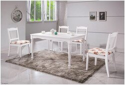 【尚品傢俱】HY-B459-04 海倫鄉村白色4.3尺餐桌