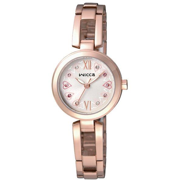 CITIZEN星辰WICCA BG3~929~21 環繞愛戀 腕錶  玫瑰金面24mm