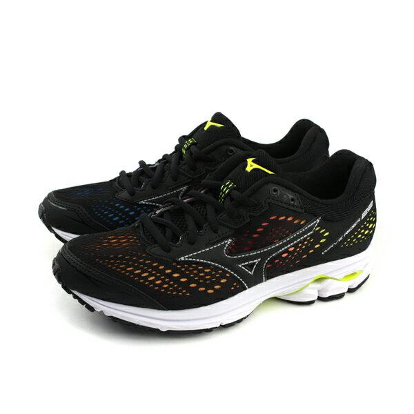 美津濃MizunoWAVERIDER22慢跑鞋運動鞋黑色女鞋J1GD183709no067