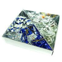幫家裡聖誕佈置裝飾到聖誕迷你吊飾小禮盒組(銀藍色系)YS-XDS016012