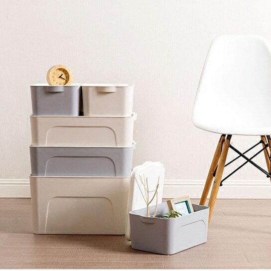 Life365:北歐風簡約收納箱玩具整理箱廚房浴室衣櫃收納可堆疊收納【RS701】