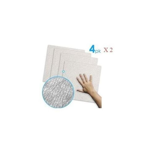 Streak Free Cloth - Ultimate Cleaning Cloth (2 Pack of a 4-PC set, Total 8) 0